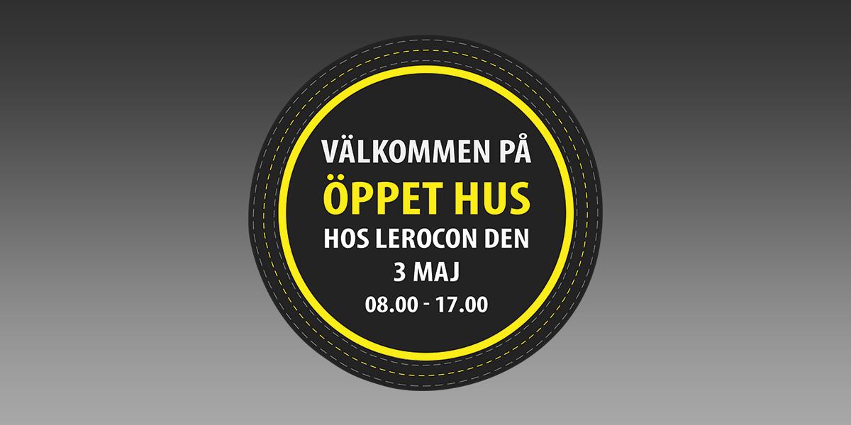 Öppet hus 3 Maj klockan 08.00-17.00